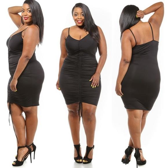 Dresses 1x2x New Plus Size Rouched Black Tank Dress Poshmark
